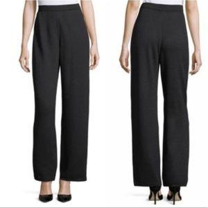 St John Basics Pull On Black Pants Womens Size M